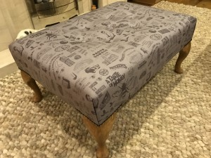 large Manchester footstool