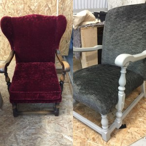 Old chairs given a new lease of life