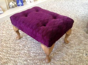 Purple-footstool